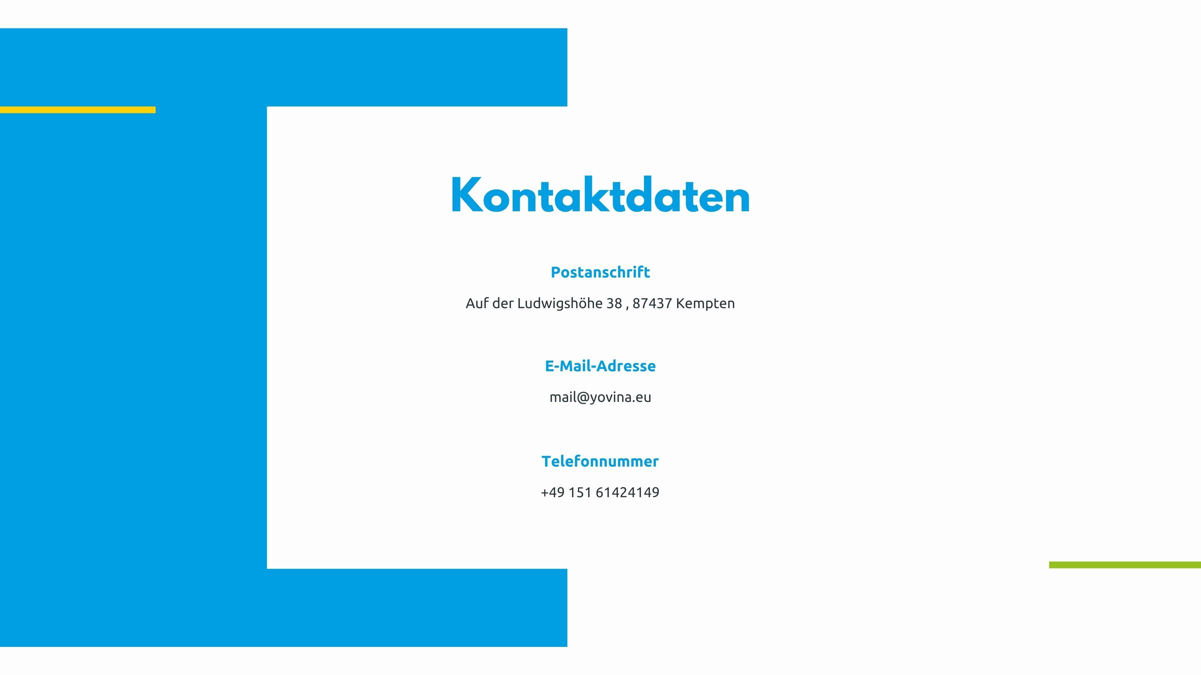 Yovina Website_Kontakt